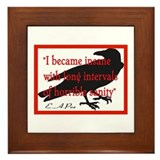POE QUOTE 2 Framed Tile