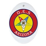 Arizona Order of the Eastern Star Oval Ornament