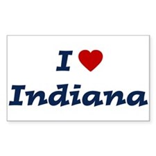 I HEART INDIANA Rectangle Decal