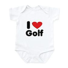 I heart golf Infant Bodysuit