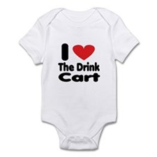 I heart the drink cart Infant Bodysuit