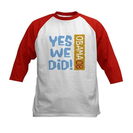 Yes We Did OBAMA 08 Kids Baseball Jersey
