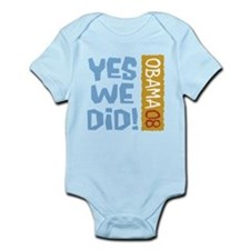 Yes We Did OBAMA 08 Onesie