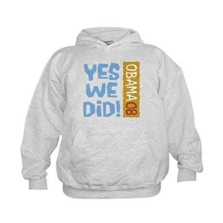 Yes We Did OBAMA 08 Kids Hoodie