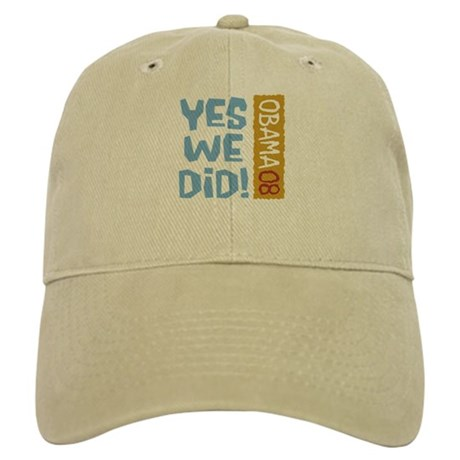 Yes We Did OBAMA 08 Cap
