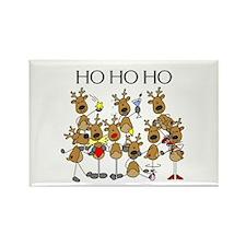 Ho Ho Ho Reindeer Rectangle Magnet