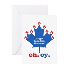 Canadian Chanuka Greeting Card