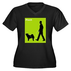 Chow Chow Women's Plus Size V-Neck Dark T-Shirt
