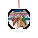 Christmas Tree and Golden Keepsake (Round)