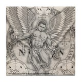 Archangel Zadkiel Tile Coaster