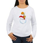 Snowman Chemist Women's Long Sleeve T-Shirt