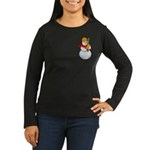 Snowman Chemist Women's Long Sleeve Dark T-Shirt