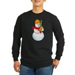 Snowman Chemist Long Sleeve Dark T-Shirt