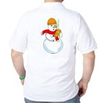 Snowman Chemist (Back) Golf Shirt