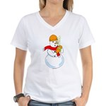 Snowman Chemist Women's V-Neck T-Shirt