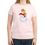 Snowman Chemist Women's Light T-Shirt