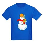 Snowman Chemist Kids Dark T-Shirt