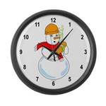 Snowman Chemist Large Wall Clock