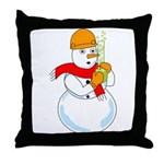 Snowman Chemist Throw Pillow