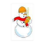 Snowman Chemist Rectangle Sticker 10 pk)