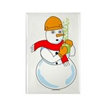 Snowman Chemist Rectangle Magnet (100 pack)