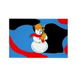 Snowman Chemist Rectangle Magnet