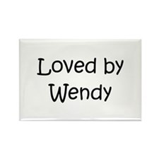 Loved by a Rectangle Magnet (100 pack)