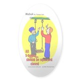 Playground Safety Oval Sticker (10 pk)