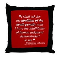 Abolish death penalty. Throw Pillow