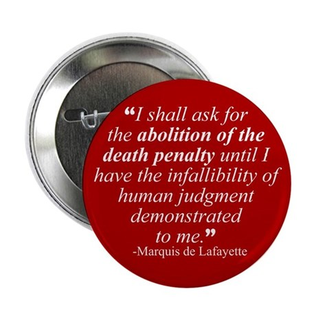 "Abolish death penalty. 2.25"" Button (100 pack)"