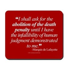 Abolish death penalty. Mousepad