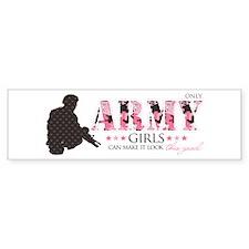 Army Girls (Make It Look Good) Bumper Car Sticker