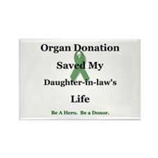 Daughter-in-law Transplant Rectangle Magnet