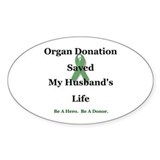 Husband Transplant Oval Sticker (10 pk)