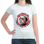 Anti Obama Don't Blame Me Jr. Ringer T-Shirt