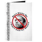 Anti Obama Don't Blame Me Journal