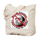 Anti Obama Not My President Tote Bag