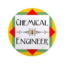"Chemical Engineer Line 3.5"" Button"