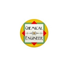 Chemical Engineer Line Mini Button