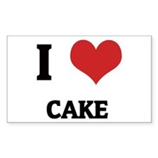 I Love Cake Rectangle Decal