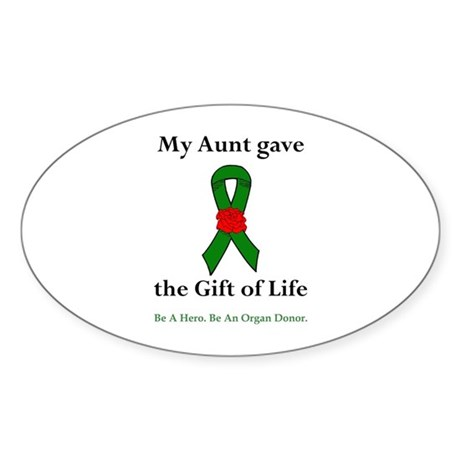 Aunt Donor Oval Sticker (10 pk)