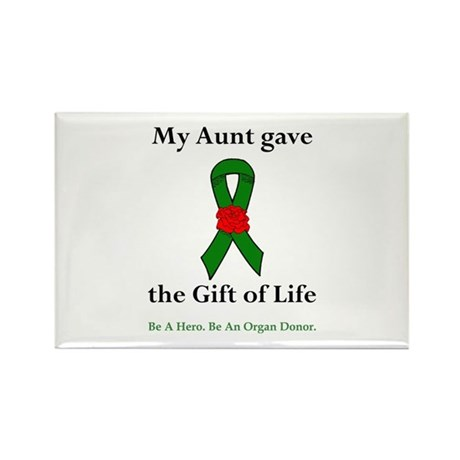 Aunt Donor Rectangle Magnet (10 pack)