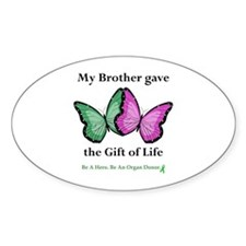 Brother Gift Oval Sticker (10 pk)