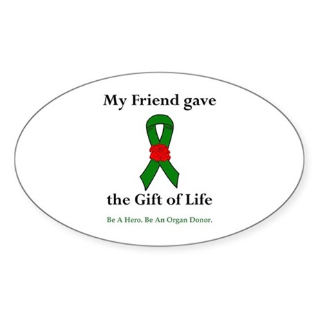 Friend Donor Oval Sticker (10 pk)