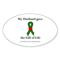 Husband Donor Oval Sticker