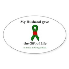 Husband Donor Oval Decal