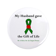 "Husband Donor 3.5"" Button"