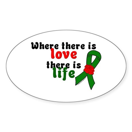 Love And Life Oval Sticker (10 pk)