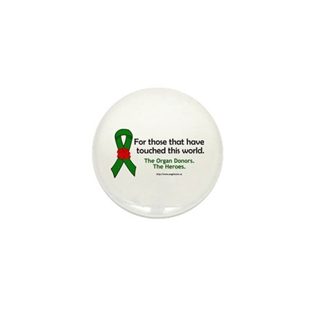 Organ Donor Heroes Mini Button