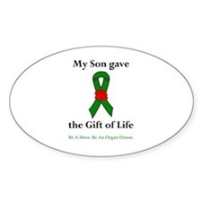 Son Donor Oval Sticker (10 pk)